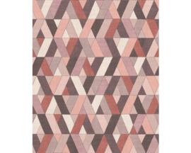Rasch Barbara Home Collection  Behang 536737 Modern/Grafisch/Ruit/Landelijk/Jute Textiel Look