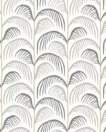 Eijffinger Mini Me Behang 399072 Botanisch/Retro/Palm/Bladeren/Grijs/Kinderkamer