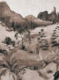Eijffinger Terra Fotobehang 391566 Savanna Sepia/Landschap/Natuurlijk Behang