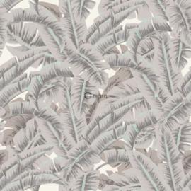 Origin Wunderkammer Behang 346-347439 Palmbladeren/Botanisch/Klei Grijs
