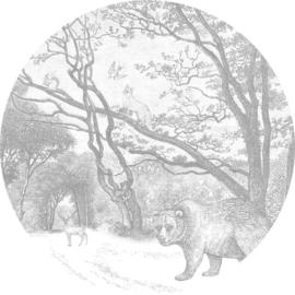 Esta Home Forest Friends Zelfklevende Behangcirkel 159083 Forest/Bos/Dieren/Beer