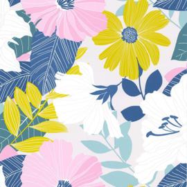 Noordwand Sejours & Chambres Behang 51194803 Botanisch/Bloemen/Modern/Retro