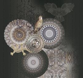 Behangexpresse Circle of Life/Select.D Fotobehang TD4150 Muddy/Mandala/Vogels/Grafisch