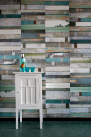 Studio Ditte Behang Sloophout Groen/Scrapwood Wallpaper Green
