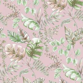 Noordwand Sejours & Chambres Behang 51196203 Botanisch/Natuurlijk/Bladeren/Jute Structuur