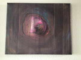 Canvas Schilderij 8 Kunst/Hout/Vintage/Kern/Natuurlijk