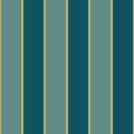 Noordwand Amazzonia Behang 22064 Strepen/Landelijk/Natuurlijk/Blauw/Goud/Glitter