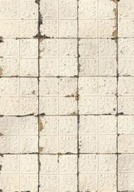 Arte Brooklyn Tins Behang Tin-02 Tegels/Vintage/Verweerd/Nostalgisch