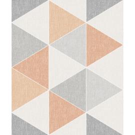 Arthouse Retro House Behang 908207 Scandi Triangle Orange/Scandinavisch/Modern