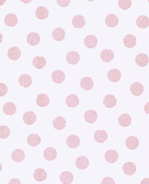 Eijffinger Rice Behang 359061 Dots/Stippen/Kinder/Roze/Glitter