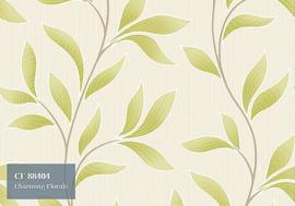 Grandeco Charming Florals Behang CF 88404 Bladeren/Natuurlijk/Landelijk