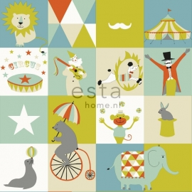 Esta Home Everybody Bonjour Behang. 137-128704 Kinder/Patchwork/Circus