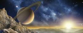 Dimex Fotobehang Spacescape MP-2-0187 Panorama/Heelal/Maan/Sterren