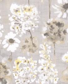 Eijffinger Grenada Behang 367002 Bloemen/Romantisch/Grijstaupe/Geel
