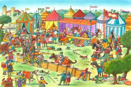 AS Creation Wallpaper 3 XXL Fotobehang 471676 Knights/Ridders/Tent/Kinderkamer