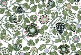 Hookedonwalls Marimekko Behang 23332 Pieni Tiara /Bloemen/Botanisch