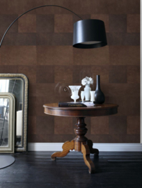 Origin Luxury Skins  Wallpaper XXL 357237 Leather Look Brown/Blok/Modern