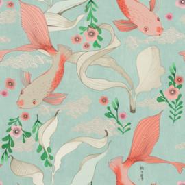 Onszelf Amazing Behang 539837 Koi Karpers/Vissen/Japan/Dieren/Natuurlijk