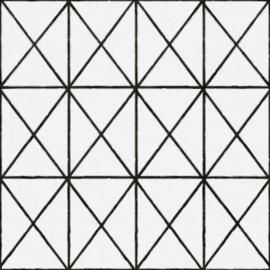 Noordwand Zero Behang 9724 Cristiana Masi/Grafisch/Ruiten/Modern/Zwart/Wit