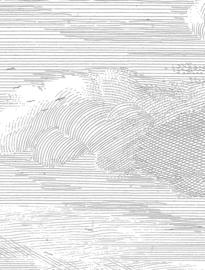 KEK Amsterdam II Fotobehang Panel WP-620 Engraved Clouds/Panels/Wolken/Natuur/Grijs