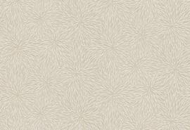 Hookedonwalls Karin Sajo 7 Behang KS 3305 Fleur de Sel/Flock/Bloemen/Botanisch/Natuurlijk