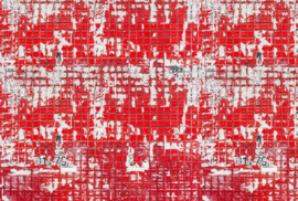 AS Creation AP Digital4 Behang DD108816 Old Tiles Red/Tegel/Vintage/Modern/Industrieel Fotobehang
