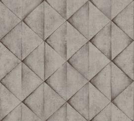 AS Creation Industrial Behang 37742-3 Modern/Grafisch/3D/Driehoek/Industrieel
