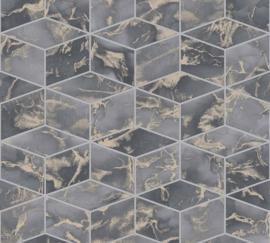 AS Creation Metropolitan Stories II Behang 37863-3 Cubes/Geometrisch/3D/Marmer/Steen/Modern/Geometrisch