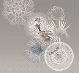Behangexpresse Circle of Life/Select.D Fotobehang TD4157 Mojo Light/Vogels/Mandala