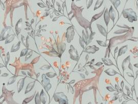 BN Wallcoverings Doodleedo Behang 220701 Catch me if you can/Tropical/Mix & Match/Botanisch/Dieren/Kinderkamer