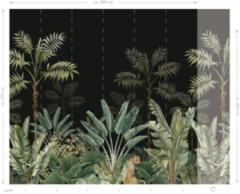 Esta Home Paradise Fotobehang 158950 Jungle/Botanisch/Dieren/Panter/Plant/Bladeren Behang