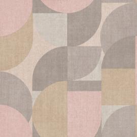 Dutch Wallcoverings Jungle Fever Behang JF3101 Bauhaus/Retro/Modern/Grafisch/Cirkels