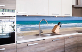 Dimex Zelfklevende Keuken Achterwand Empty Beach KL-180-090 Strand/Beach/Zee/Uitzicht