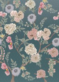 Behangexpresse Floral-Utopia Fotobehang INK7561 Tea Garden Romance/Bloemen/Botanisch