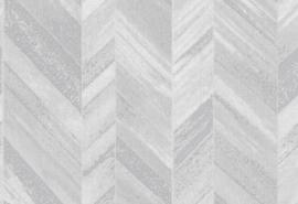 Hookedonwalls Tropical Blend Behang 33613 Nipa/Chevron/Textiel look/Natuurlijk/Structuur