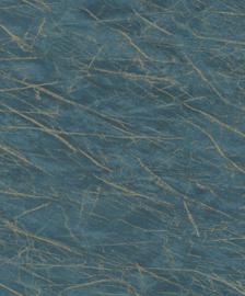 Rasch Factory IV Behang 428957 Marmer/Structuur/Modern/Industrieel/Blauw/Goud