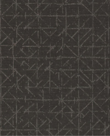 Eijffinger Topaz Behang 394535 Geometrisch/Grafisch/Stoer/Industrieel/Chic/Zwart