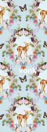 Behangexpresse AK1029 Romantisch/Bloemen/Vlinders/Bambi/Kinderkamer Fotobehang