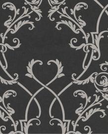 Eijffinger Salisbury Behang 355043  Klassiek/Ornament/Zwart/Offwhite