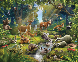 Walltastic Wall Mural 43060 Animals of the Forest - Dutch Wallcoverings