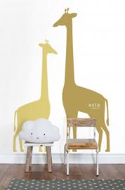 Esta Home Let's Play Fotobehang 158925 Giraffes/Giraf/Dieren/Kinderkamer