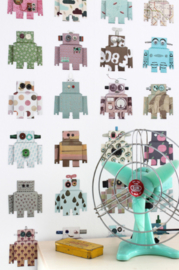 Studio Ditte Behang Robot behang bliep bliep-Robot wallpaper Bleep Bleep