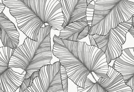 Hookedonwalls Botanical Behang 19711 Laurus/Botanische Bladeren/Natuurlijk/Modern