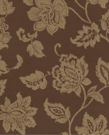 Eijffinger Salisbury Behang 355003  Klassiek/Bloemen/Bruin/Goud