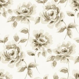 Esta Home Ginger Behang 128012 Romantisch/Bloemen/Beige Rozen