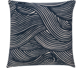 Rasch Kussen 200299 KL-H Wave 01 Blau / Barbara Home collection