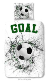 Dekbedovertrek Muller-Textiles 2327 Pascal White/Voetbal/Sport/Goal 1 persoons