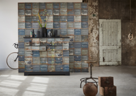 Studio Ditte Behang Container behang donker/Container wallpaper Dark