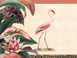 BN Studios/BN Wallcoverings Mijke Konijn Murals Fotobehang 200390 Flamingo & leopard/Luipaard/Tropical/Botanisch