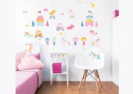Walltastic Unicorn Kingdom 45064 Wall Stickers - Dutch Wallcoverings